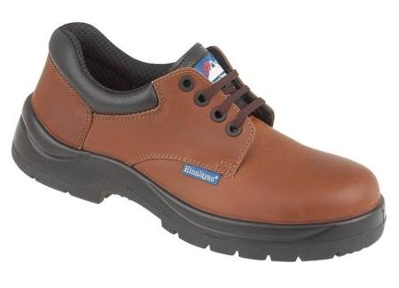 Brown HyGrip Safety Shoe Metal Free, HIMALAYAN-5118,