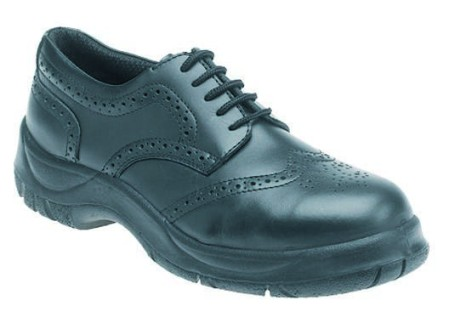 Wide Grip Brogue Safety Shoe with Midsole, HIMALAYAN-410,