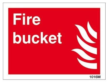 Fire bucket sign 21015hv