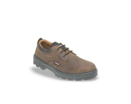 Brown 3 Eyelet Safety Shoe with Midsole, TOESAVERS-1411,
