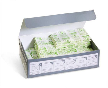 100 Assorted Fabric Plasters CFAFP100