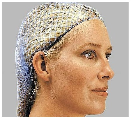 Disposable ladies metal detectable hairnet