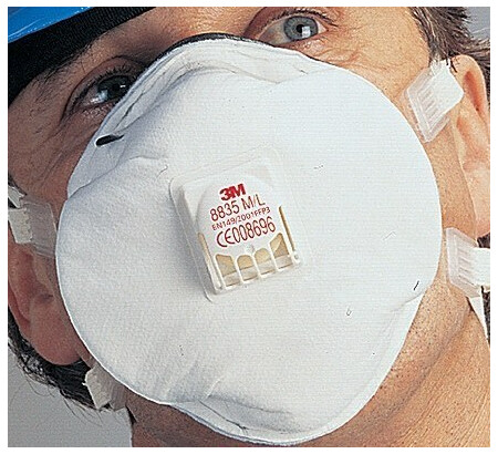 3M 8835 Soft Seal Dust/Mist/Metal Fume Respirator single mask