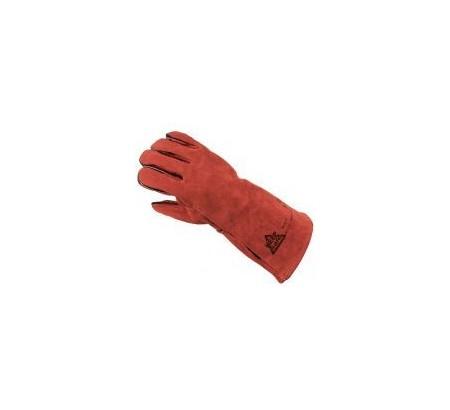 Glove Gauntlet welding red PAIR 304354