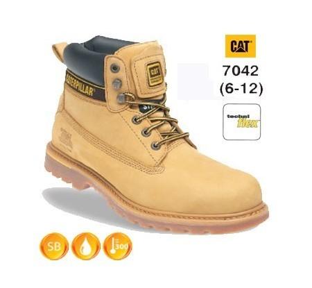 CATERPILLAR 7042 Holton Honey Nubuck Leather Safety Boot