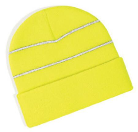 Beechfield BC042 High-viz knitted striped hat