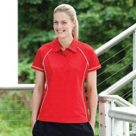 Finden & Hales LV371 Ladies Piped polo