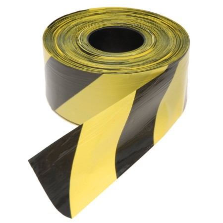 Black & yellow barrier tape