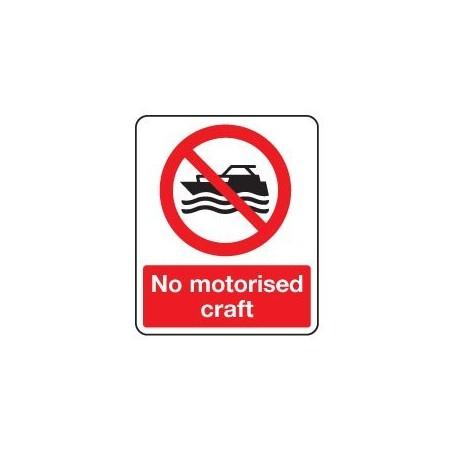 No motorised craft sign