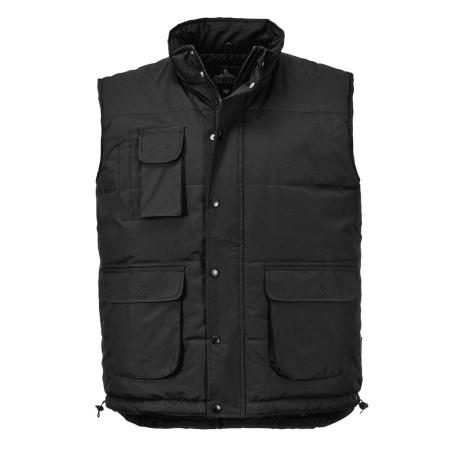 Portwest S415 Classic Polyester Multipocket  Bodywarmer Black
