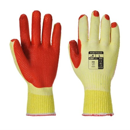 Portwest A135 Tough Grip Glove Yell-Ora