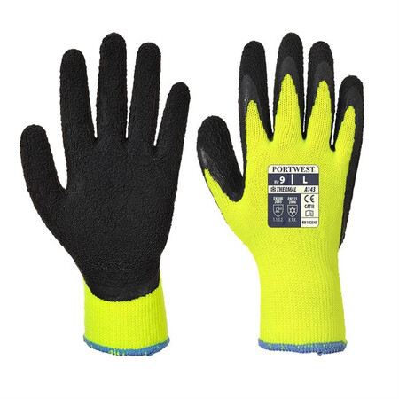 Portwest A143 Thermal Soft Grip Glove Yellow