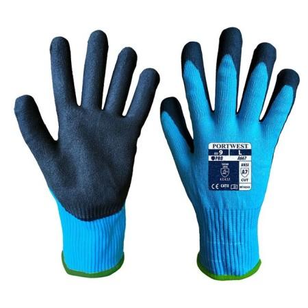 Portwest A667 Claymore AHR Cut Glove Blue-Black