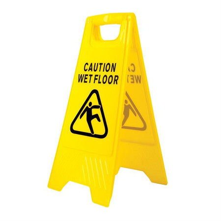 Portwest HV20 Wet Floor Warning Sign Yellow