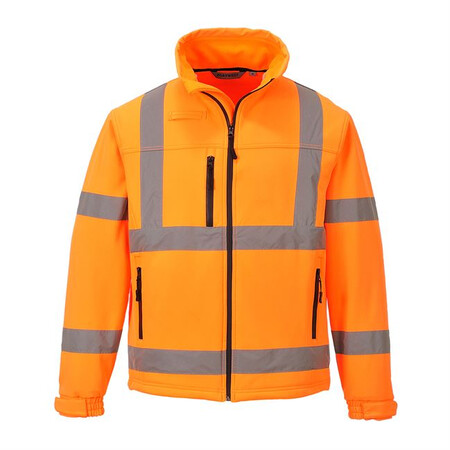 Portwest S424 Hi-Vis Softshell Jacket Orange