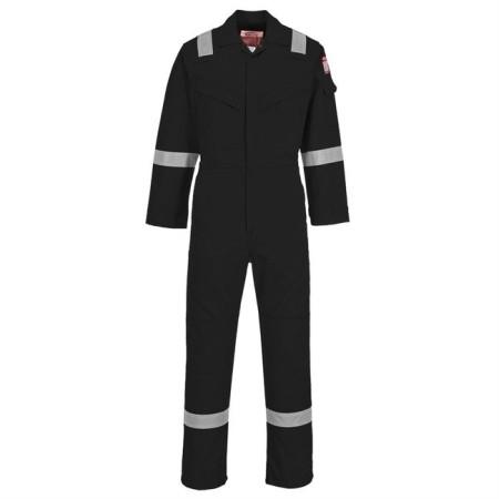 Portwest FR21 FR Antistatic Coverall Black