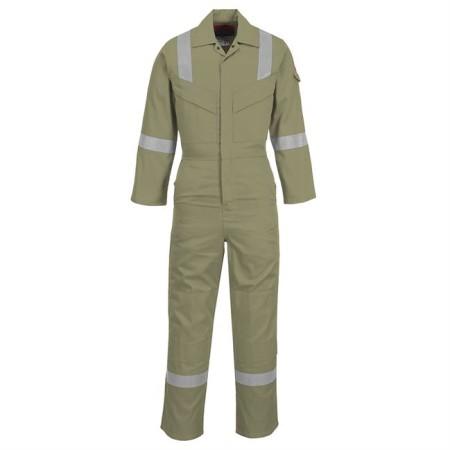 Portwest FR21 FR Antistatic Coverall Khaki