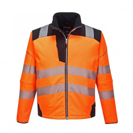 Portwest T402 Vision Hi-Vis Softshell Jacket Orange