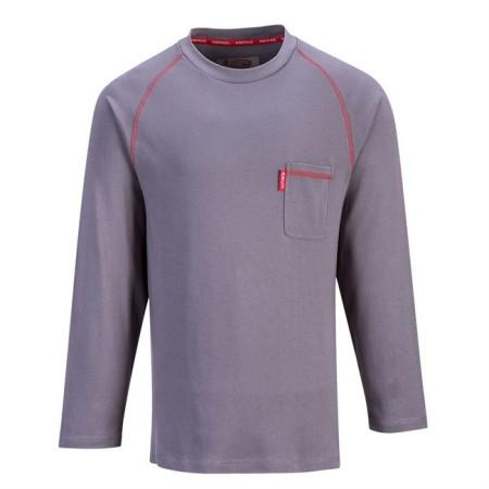 Portwest FR01 Bizflame Crew Neck T-Shirt Grey
