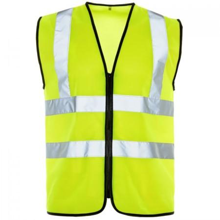 Yellow Zip up Hi Vis Vest