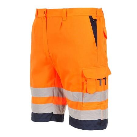 Portwest Hi Vis Shorts E043 Orange side