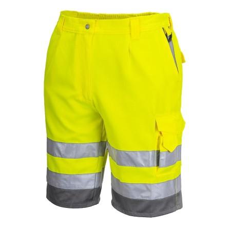 Portwest Hi Vis Shorts E043 Yellow side