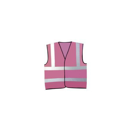 Pink hi visibility vest