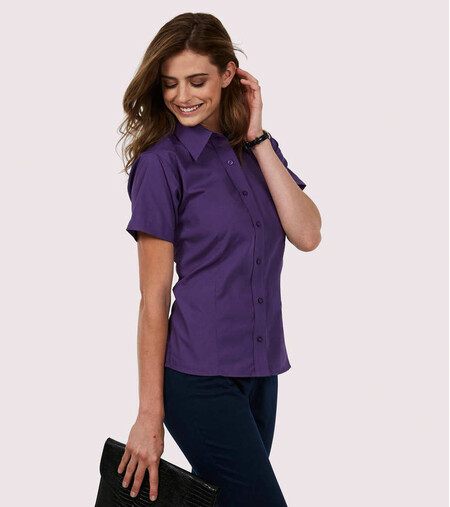 Ladies Poplin Half Sleeve Shirt