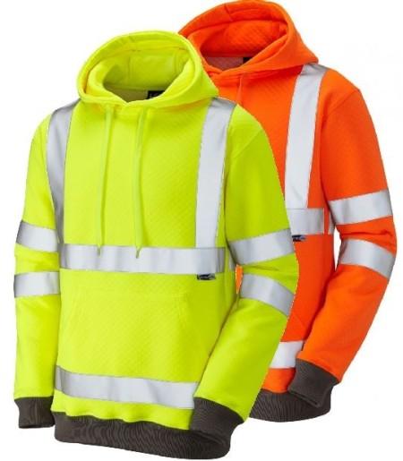 Hi Vis Hooded Sweatshirt LEO SS04 Goodleigh