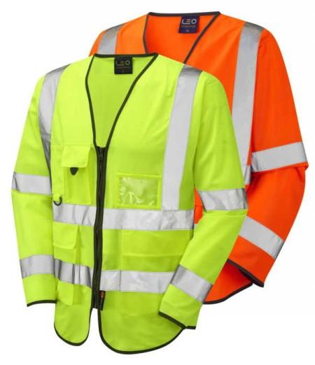 Long Sleeve Hi Vis Vest With Pockets