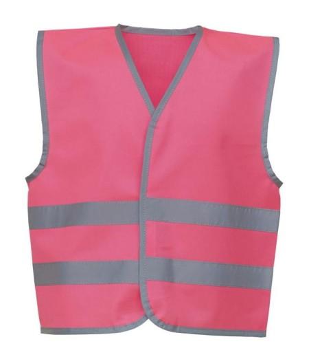 Kids Hivis Vests Fluorescent Pink