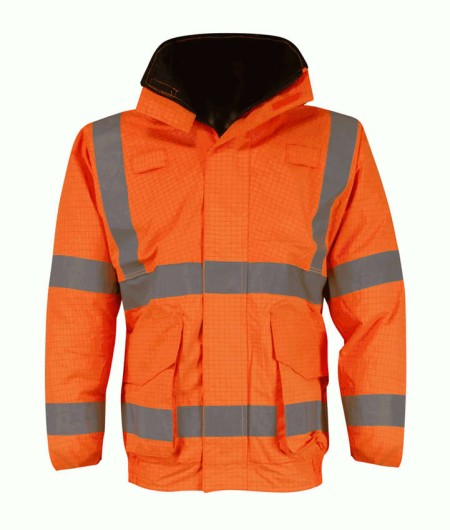 Hi Vis Flame Retardant Antistatic Bomber Jacket Orange