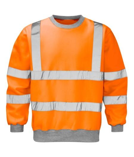 Hi Vis Orange Railway Sweatshirt