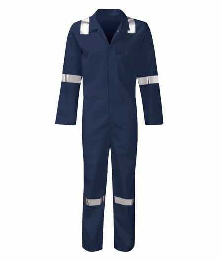 Navy Flame Retardant Hi Vis Coverall