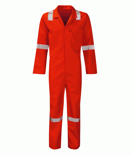Red Flame Retardant Hi Vis Coverall