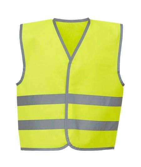 Kids Hivis Vests Yellow