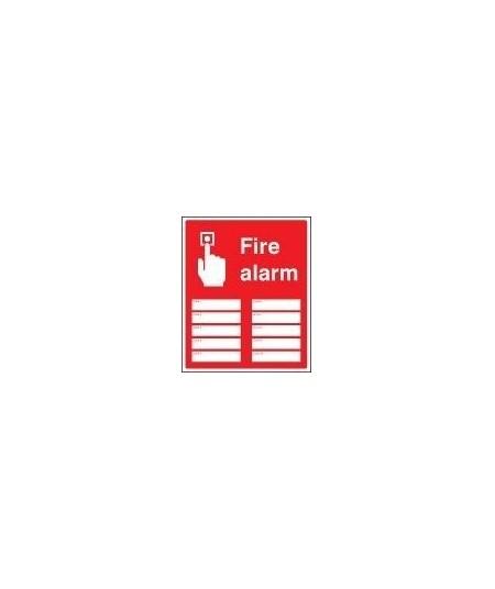 Fire alarm zones 10 sign