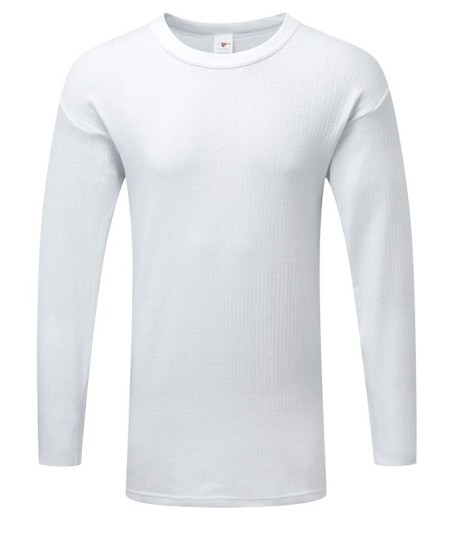 Long Sleeve Thermal Vest White