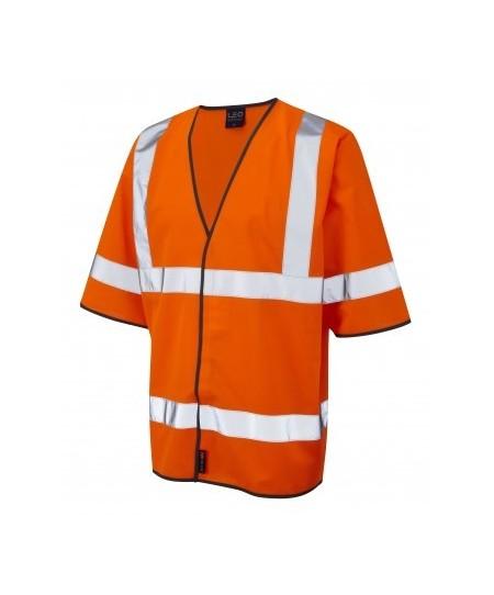 Orange short sleeve hi vis vest