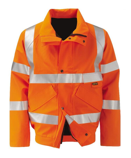Orange Gore Tex Bomber Jacket