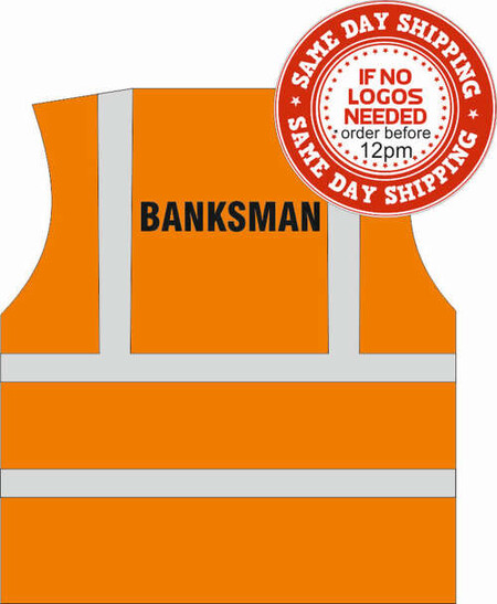 banksman hi vis vest orange