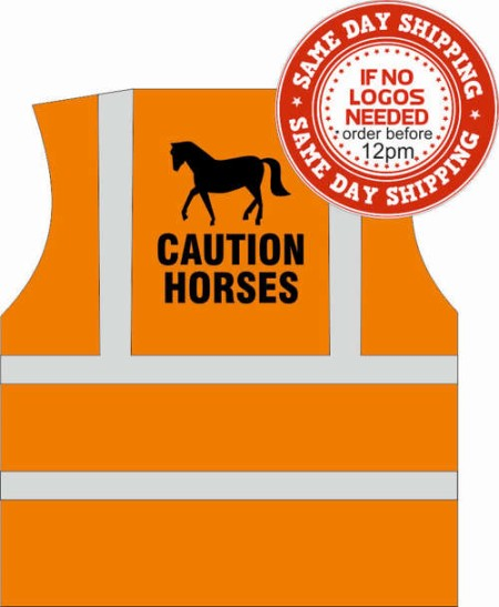 caution horses hi vis vest