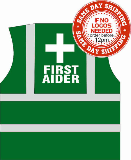 Green First Aid Hi Vis Vest