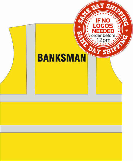 BANKSMAN Printed Hi Vis Vest