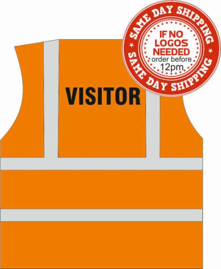 Visitor hi vis vest orange