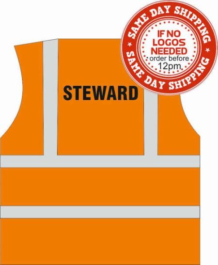 fire warden hi vis vest orange