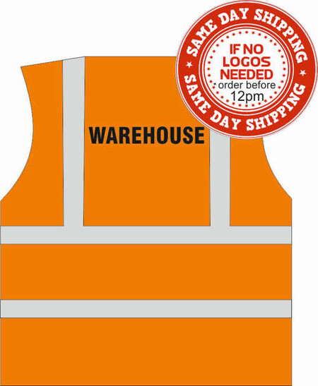 Orange warehouse vest