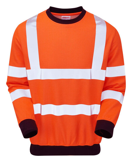 Pulsar Flame Retardant Orange Hi Vis Sweatshirt PRFR20