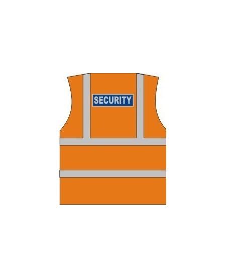 Orange Security hi vis vest