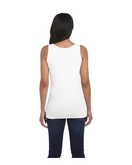 Gildan Ladies Vest WHITE Gd077 6400L